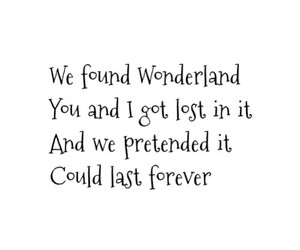 Lyrics, Taylor Swift, and wonderland image