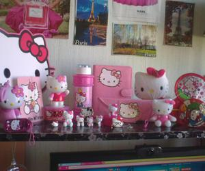fan, hello kitty, and pink image