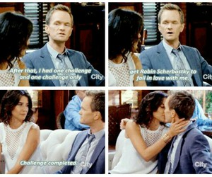 barney, himym, and kiss image