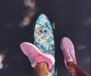 nike, summer, and shoes image