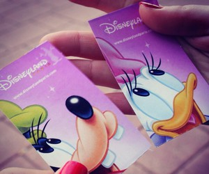 disney, pink, and tickets image