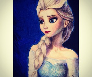 elsa, drawing, and frozen image
