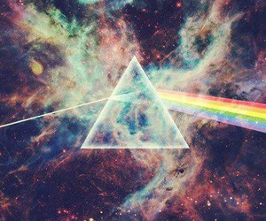 galaxy, Pink Floyd, and rainbow image
