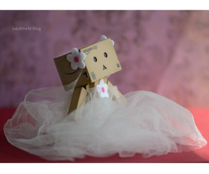 flower, funny, and wedding dress image