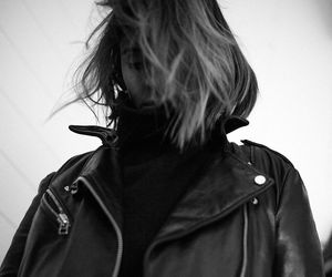 black and white, fashion, and grunge image