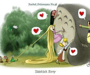 disney, totoro, and pocket princesses image