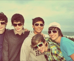 boy, beach, and friends image