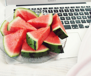watermelon, food, and healthy image