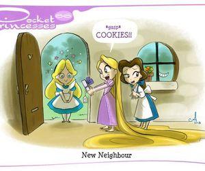 disney, pocket princesses, and belle image