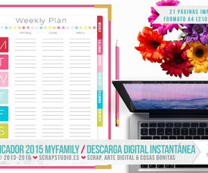 diary, family, and planner image