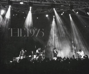 the 1975, band, and black image