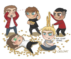 art, 1d, and liam payne image