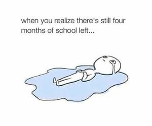 school, funny, and sad image