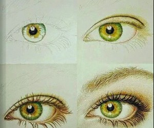 drawing, eye drawing, and eye image