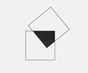 art, cube, and losange image