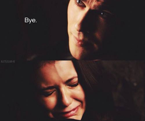 bye, damon, and elena image