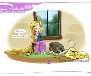 disney, rapunzel, and pocket princesses image