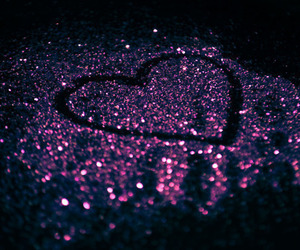 heart, glitter, and purple image