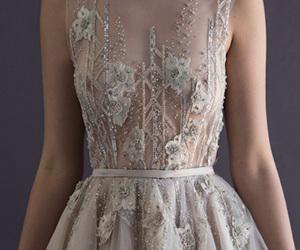 dress, white, and beauty image