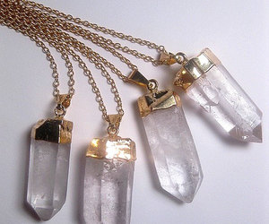 crystal, crystal necklace, and jewelry image