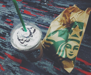 food, frappe, and muffin image