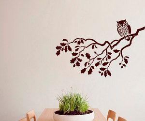 home decor, murals, and owl image
