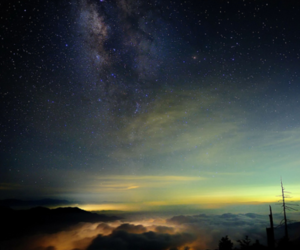 clouds, sky, and stars image