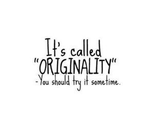 originality and text image