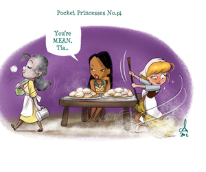 disney, cinderella, and pocket princesses image