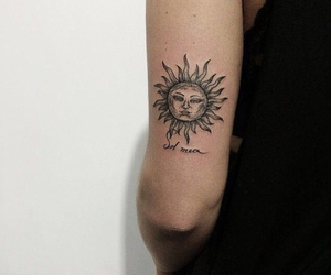 tattoo, sun, and indie image