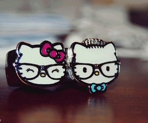 hello kitty, ring, and rings image