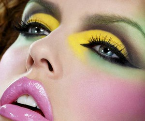 colorful, lipstick, and eyes image