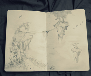 drawing, fantasy, and sketch image