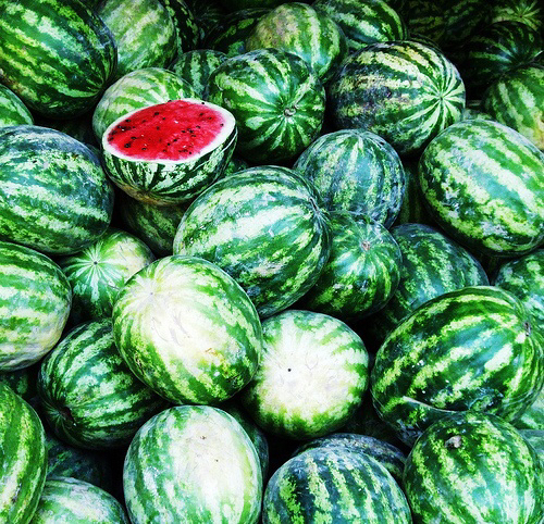 food, healthy, and watermelons image