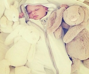 baby, sleep, and little image
