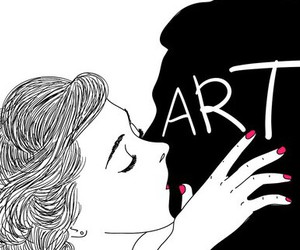 art, kiss, and grunge image