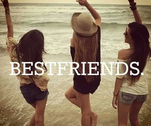 best friends, friendship, and love image