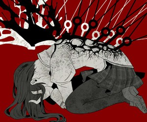 anime, sad, and homura akemi image