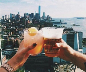drink, city, and summer image