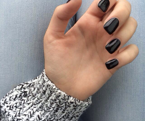 nails, black, and sweater image