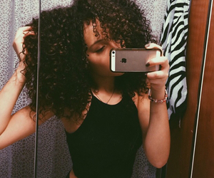 curly hair and natural hair image
