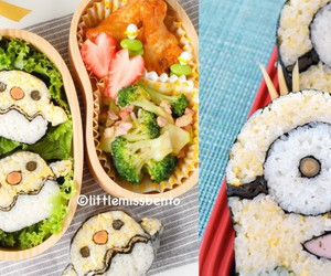 bento box, minions, and sushi art image