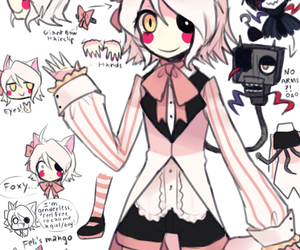 female, pink fox, and cute image