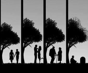 black and white, till the end, and love image