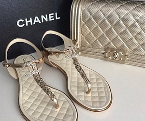 chanel, bag, and sandals image
