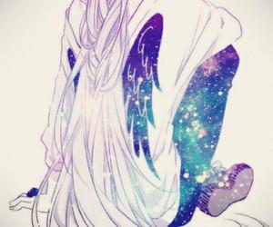 galaxy, girl, and anime image