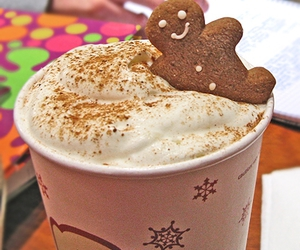 coffee, cookie, and gingerbread image