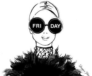 friday, black, and drawing image