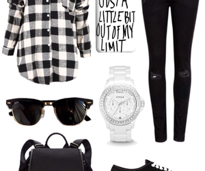 backpack, Polyvore, and watch image