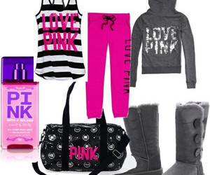 pink, pink clothes, and pink girl image